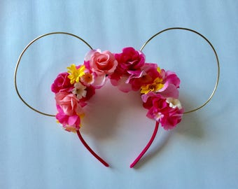 Sleeping Beauty's Aurora inspired~ floral mouse ears