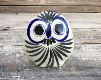 Tonala Pottery Owl Figuring, Owl Folk Art, Owl Gifts, Tonala Mexican Pottery, Mexican Decor