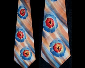 Vintage 40s Hand Painted Towncraft Wide Tie