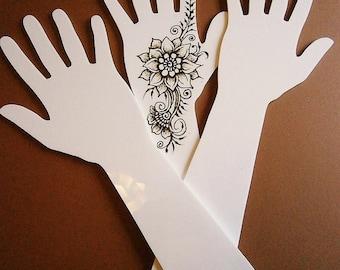 Acrylic (Perspex) Henna Mehndi Practice Hand
