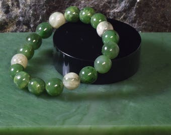 Premium Mixed Color Nephrite Jade Bracelet - 2