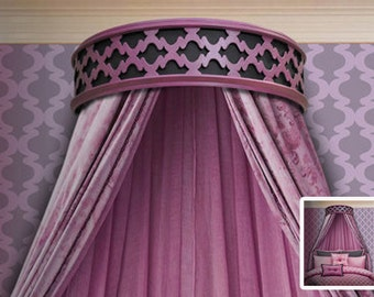 Modern Elegant Handcrafted Geo-Dese Bed Crown