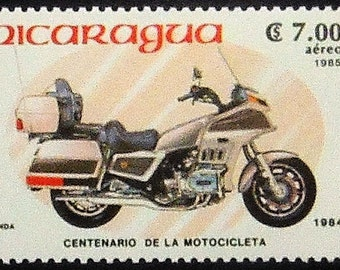 Honda Centenario De La Motocicleta 1885-1985 Motorcycles & Motorbikes -Handmade Framed Postage Stamp Art 5435AM