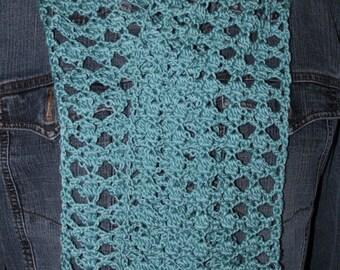 Cluster Trellis Lightweight Lacy Scarf Crochet Pattern