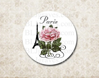 Stickers Envelope Seals Paris Eiffel Tower Rose French Wedding Party Favor Treat Bag Sticker SP066