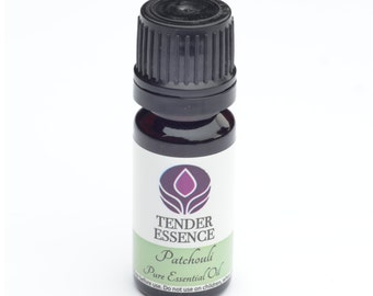 Patchouli Essential Oil. Aromatherapy 10ml Bottle.