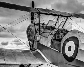 WW2 Biplane, Black and White Fine Art Photography