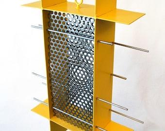 Bird Feeder Sunscreen Sunflower Feeder in Yellow welded steel