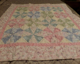 Pastel Frost Quilt for Baby or Child