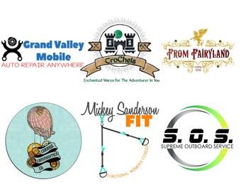 Steampunk Logo - Mechanic Logo - Small Business Logo - Masculine Logo - Branding Identity - Vector Logo - Small Business Logo - Custom Logo