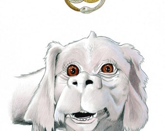 Falcor The Luck Dragon Limited Edition Art Print by Ryan Berkley