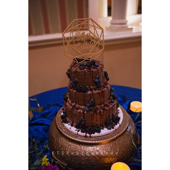 Geometric Cake Topper, Custom Name Cake Topper, Wedding Cake Topper, Geometric Wedding, Custom Geometric Wedding Cake Topper, Custom Names