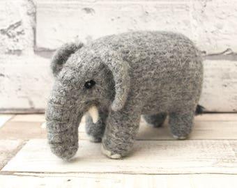 "Juniper the ""mini make"" Elephant Knitting and Felting kit"