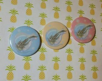 Air  / Plant / Planter / Pinback / Button / Badge / Illustration /Succulent / 2.25 inch