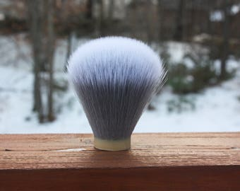 24MM SilkSmoke Synthetic - Extra Dense Shaving Brush Knot - Grey/White - APShaveCo.