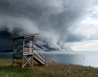 Thunderstorm Over Lake Superior - Digital Photo Print