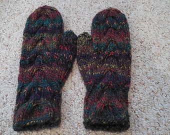 Green Variegated Mittens