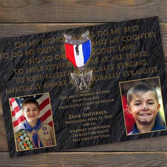 eagle scout court of honor invitation, Boy Scouts of America invitation, scouting invitation, cub scouts, trail to eagle, order of the arrow