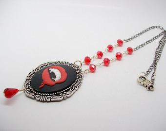 Vampire Fang Pendant Necklace - Vampire Necklace - Vampire Fang Necklace - Gothic Necklace - Gothic Cameo - Gothic Pendant Necklace - Gothic