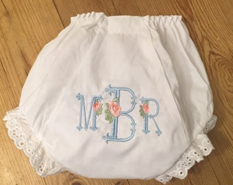 Monogram/Initial Personalized Diaper Cover