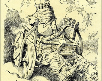 Poster, Many Sizes Available; Thor, God Of Thunder By Johannes Gehrts 1890