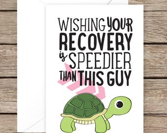 Get Well Soon Card - Speedy Recovery Card - Recovery Card