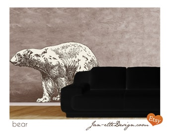 Bear in your Living Room Fabric Wall Decal