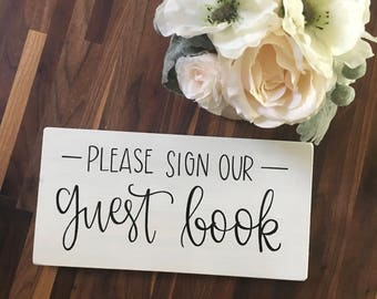 Please Sign Our Guest Book - Wood Sign