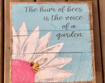 Hum of Bees Garden Sign