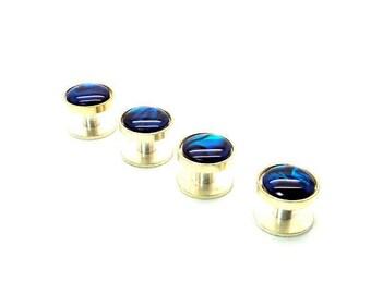 Blue Paua Shell Tuxedo Shirt Studs – Deep Blue Paua Shell Tuxedo Shirt Studs – Blue Tuxedo Shirt Studs