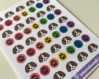 A79 - Dog - Planner Stickers
