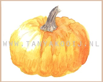 Watercolor Pumpkin. Pumpkin clip art, thanksgiving pumpkin,thanksgiving menu, Thanksgiving pumpkin,