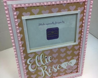 Newborn Baby Frame Gift- Name, Date and Weight