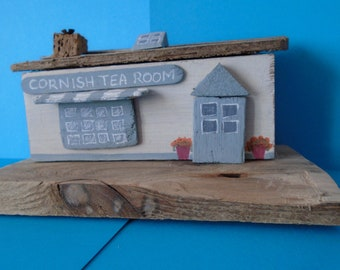 Cornish tea room made from driftwood
