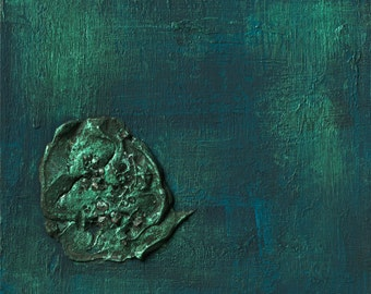 career,Feng shui abstract print,  blue,water, FREE SHIPPING , 12x12 inch (30x30cm),   20x20inch (50x50cm)