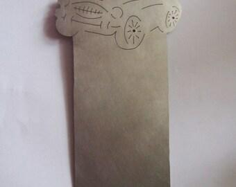 Titanium sports car bookmark