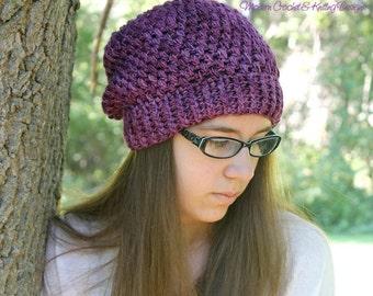 Crochet PATTERN - Crochet Slouchy Hat Pattern - Baby Crochet Pattern - Crochet Hat Pattern - Baby, Toddler, Child, Adult Sizes - PDF 378