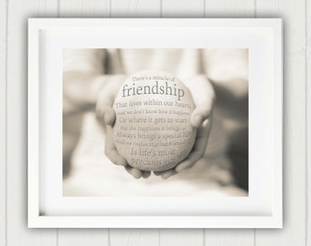 Friend Gift, Thanksgiving Gift, Gift for a friend, Friendship Art, Best Friend Gift, Friendship Quote, Gift for her, Best Friend Quote