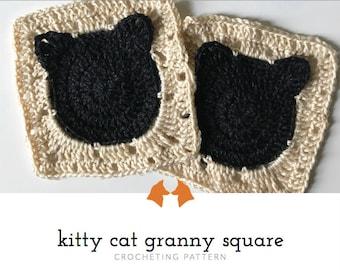 Crochet Granny Square Blanket Patterns, Crochet Cat Pattern, Crochet Granny Square Blanket Pattern, Granny Square Baby Blanket, Tutorial