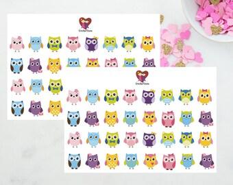 Owl Stickers / Decorative icons / Erin Condren / Kikki K