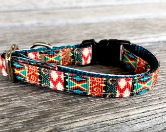 Southwest Cat Collar, Kitten Collar, Breakaway Cat Collar, Big Cat Collar, Desert Kitten Collar, Orange Cat Collar, Safety Collar, Boy