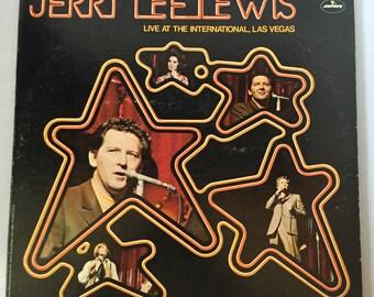 Jerry Lee Lewis Live at The International Las Vegas Vinyl Record Album LP Mercury Records, Vintage Vinyl Records, Rock and Roll Records