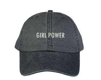 GIRL POWER | WASHED |  Dad Hat | Feminist | Boss Lady | Girl Gang | Empowered | Chingona | Female Empowerment | Anti Trump | Women | Tumblr