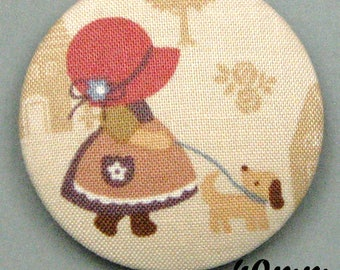 Fabric - Sunbonnet - covered button Sunbonnet Sue (40-07)