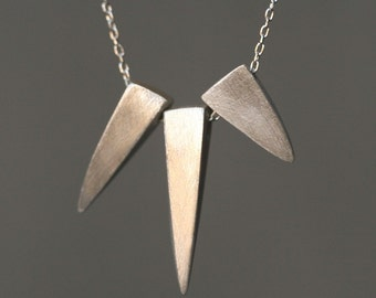 3 Spike Necklace in Sterling Silver