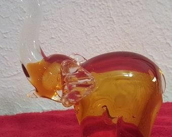 Murano vintage glass elephant
