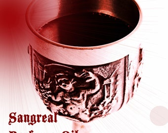 SANGREAL PERFUME OIL - Black roses, red roses, dragon's blood, resins, woods - Gothic Medieval Perfume