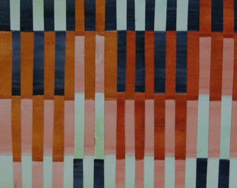 Rust Orange Horizons Paper Collage