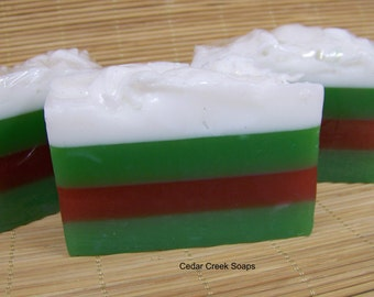 Happy Holiday Soap  Scents of the Season Soap Stocking Stuffer  Soap Gift Detergent Free Soap
