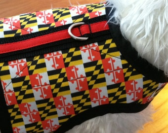 Maryland Flag Small Dog Harness, Maryland Pride, Made in USA, dog harnesses, dog clothing